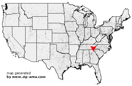 Commerce Georgia Map.Us Zip Code Commerce Georgia