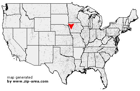 Avoca Iowa Map.Us Zip Code Avoca Iowa